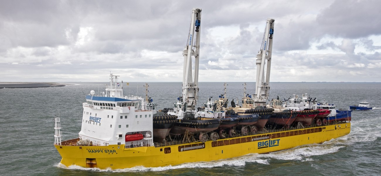 Damen Stock vessels arrived in the Port of Rotterdam