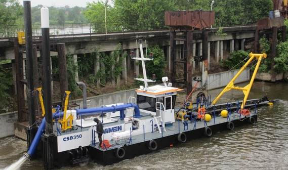 Damen has recently delivered a CSD350, one of the smaller dredgers of her extensive range.