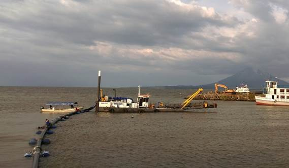 The CSD350 works at a max dredging depth of 9m