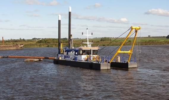 Dutch contractor Van der Lee has acquired a standard Damen cutter suction dredger type CSD450.