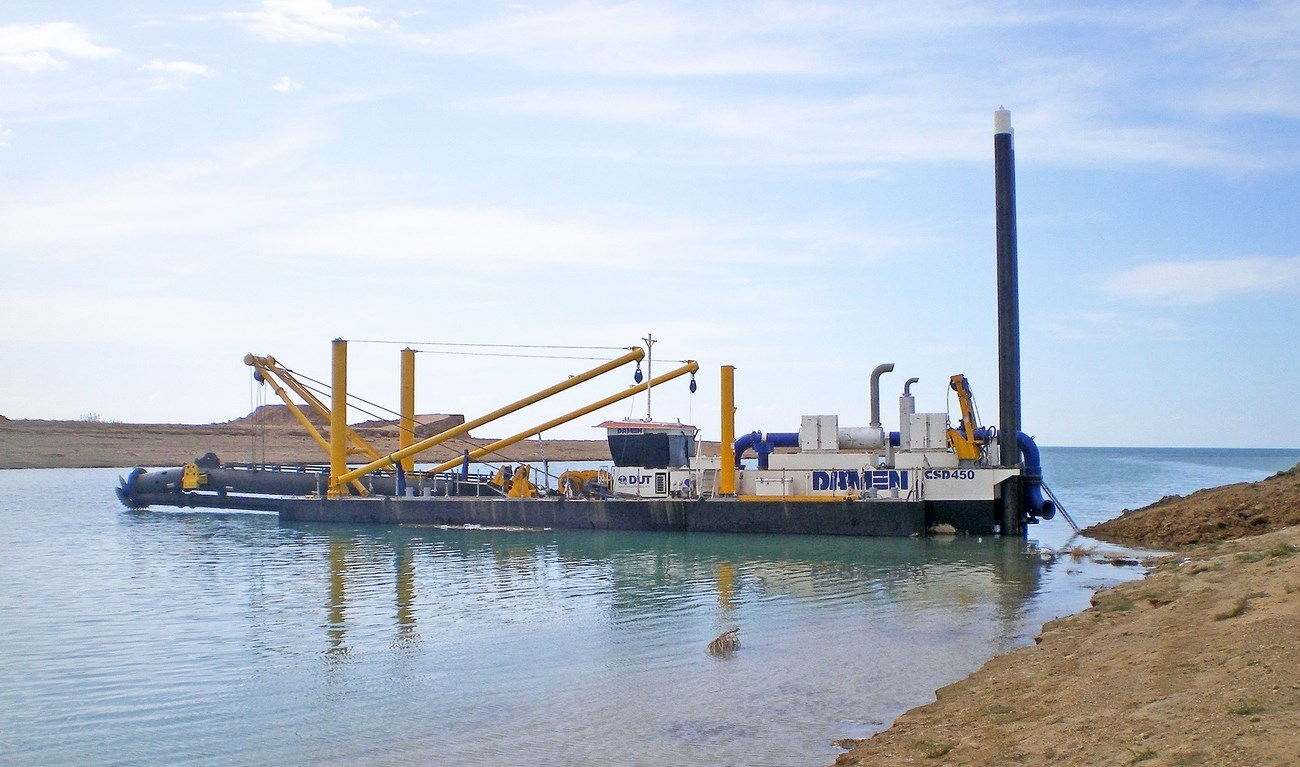 Following successful earlier deliveries of Damen CSDs, a series of four more Damen CSDs was contracted for the Iraqi Ministry of Water Resources (MoWR)