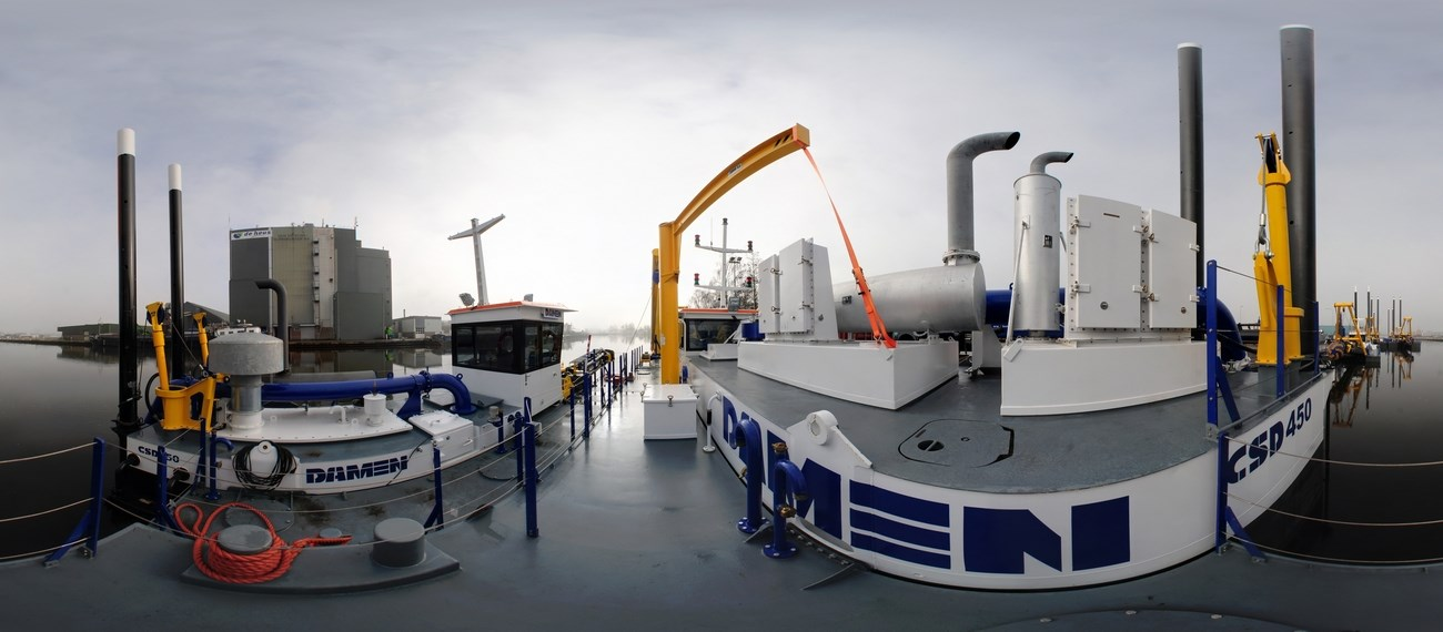 virtual tour of cutter suction dredger 450