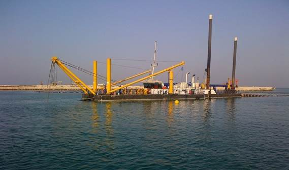 the swift delivery of a cutter suction dredger, type CSD500, made sure another dredging job had a flying start.