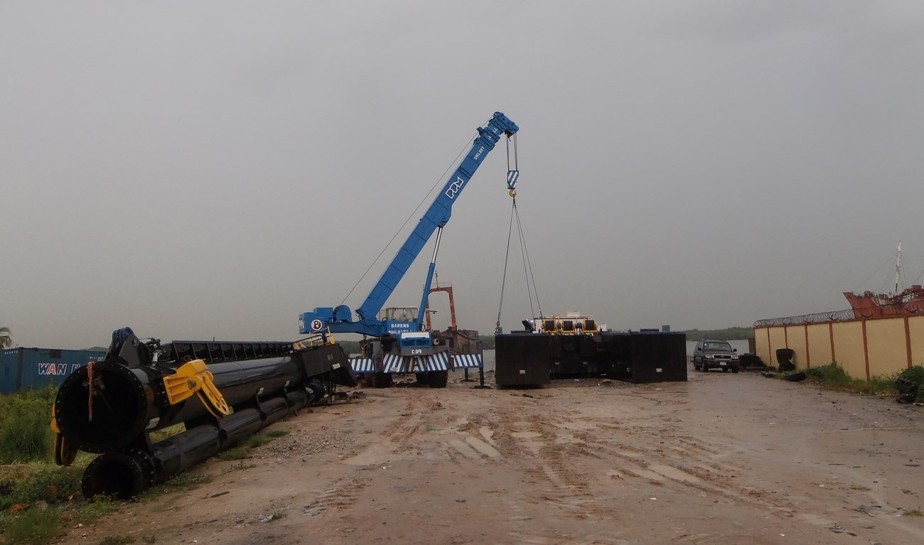 The standard stationary dredger type CSD500 has been handed over to a west African customer.