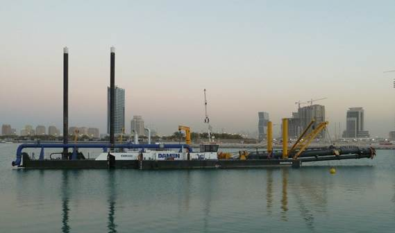 A Damen cutter suction dredger was delivered with almost all options available installed.