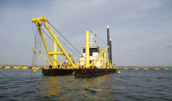 Damen Dredging Equipment delivered the Cutter Suction Dredger 500 'Conchas' to its new owner