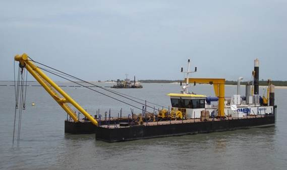 The Cutter Suction Dredger 500 for the Indian dredging company Navayuga