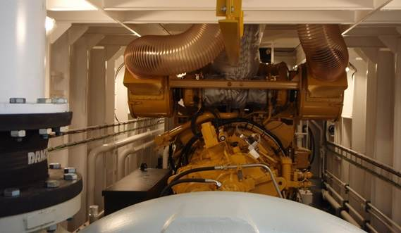 The powerful cutter suction dredgers are all powered by Caterpillar diesels