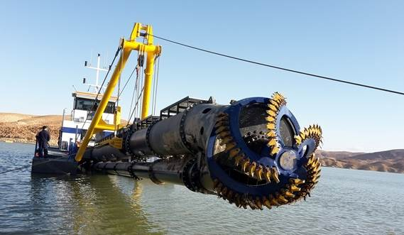 All wear parts of the cutter and dredge pump are easily replaceable