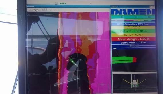 Damen Dredging Software further enhances the efficiency of the cutter suction dredgers