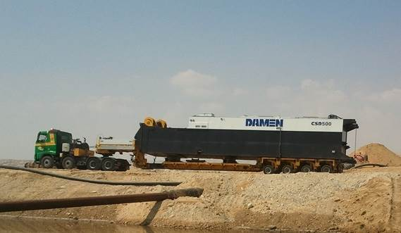 The dredger can be dismantled easily for transportation