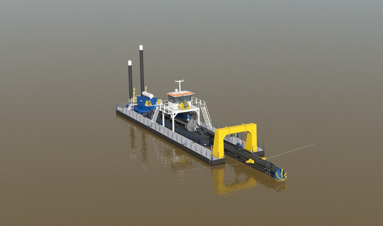 Especially designed for deep cutter dredging