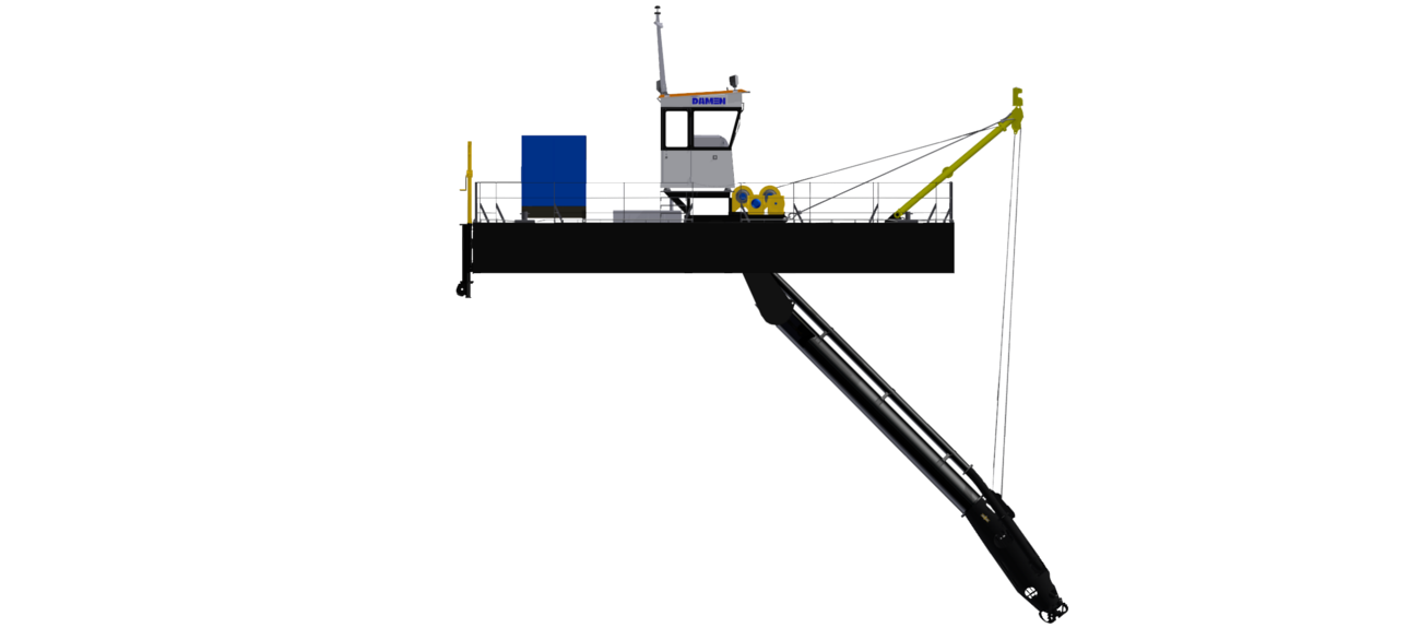 Easily adaptable dredger due to the modular design and plenty of available options