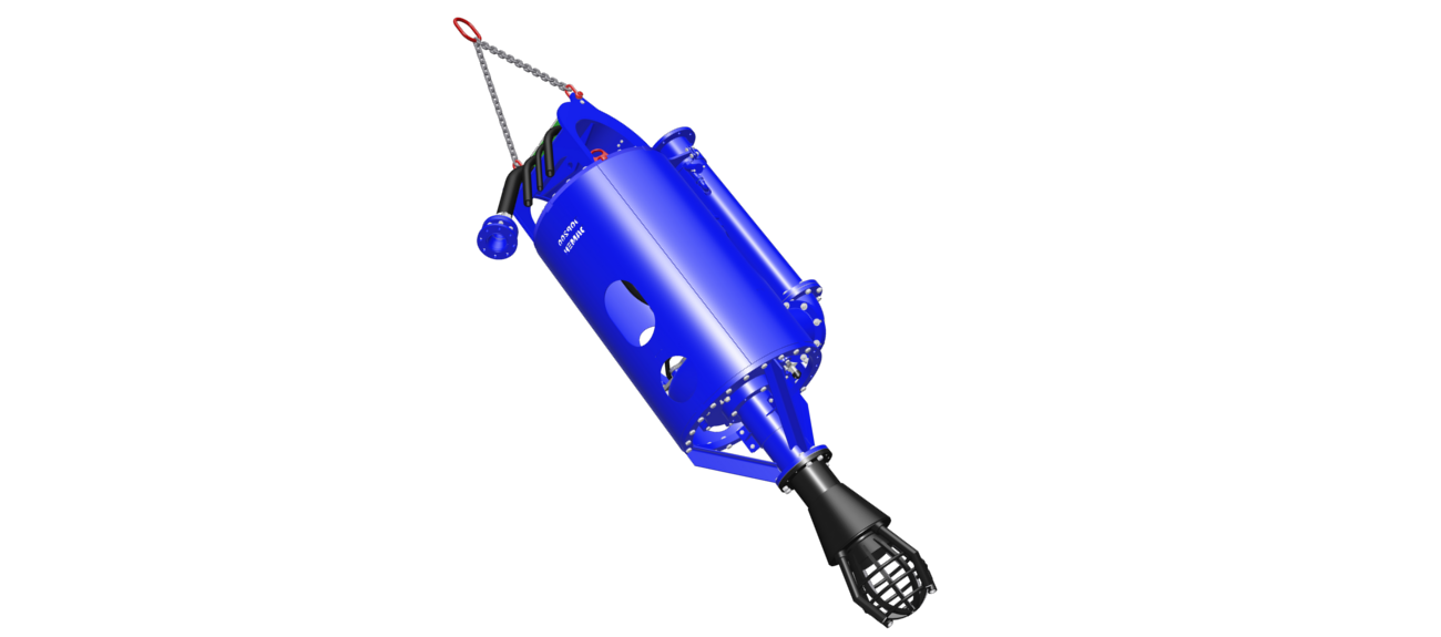 The DOP submersible dredge pump is fitted out with highly efficient, wear resistant impeller and pump casing which enable a large spherical passage