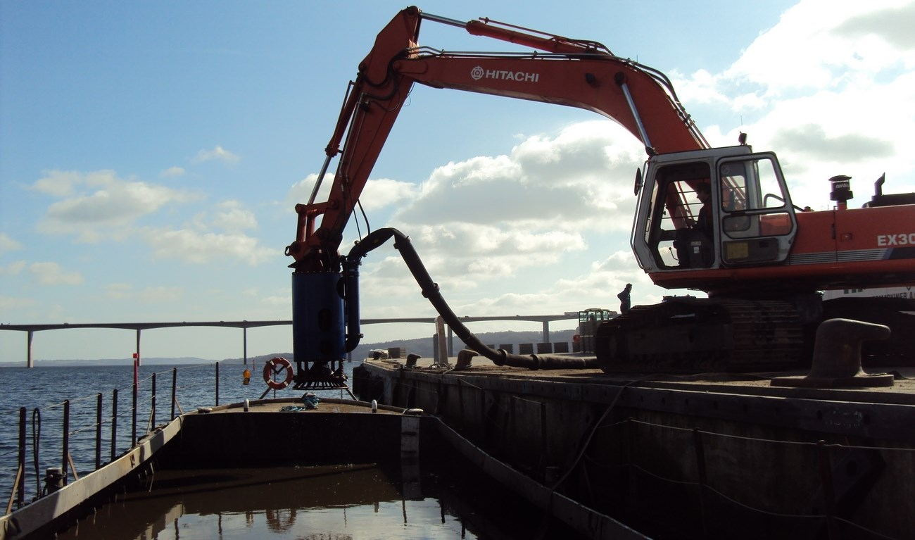 A Damen submersible dredge pump, type DOP 200, was delivered in January 2012 to a Danish customer