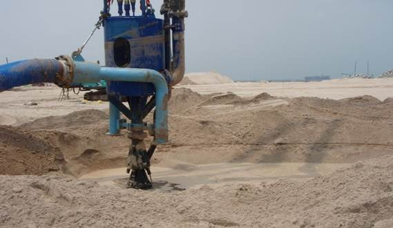 For a large scale mining project the DOP has been fitted out with customised supplementary jetwater nozzles