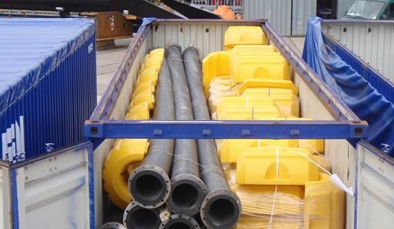 Dredging packages including floating piping and hoses are shipped globe for immediate start up of your dredging job