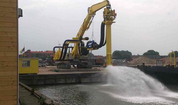 Dredging recirculating process using DOP dredge pump