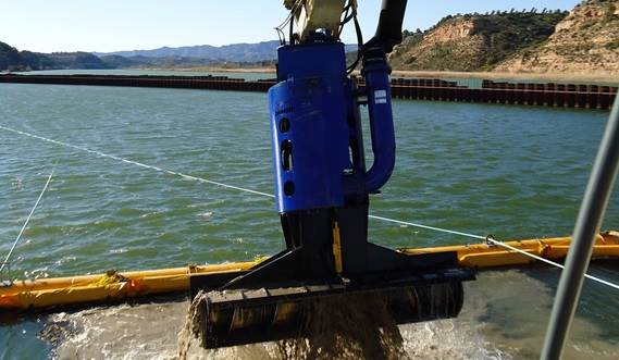 The DOP auger head is a first class, environmentally-friendly dredging tool