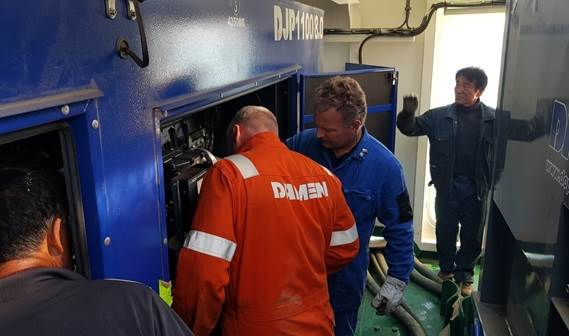 Installation of the Damen Jet Pack on board