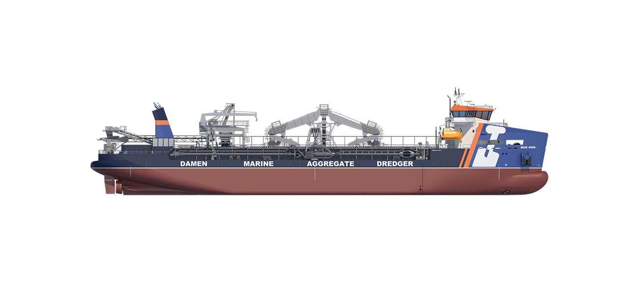 Marine Aggregate Dredger 4000 sideview