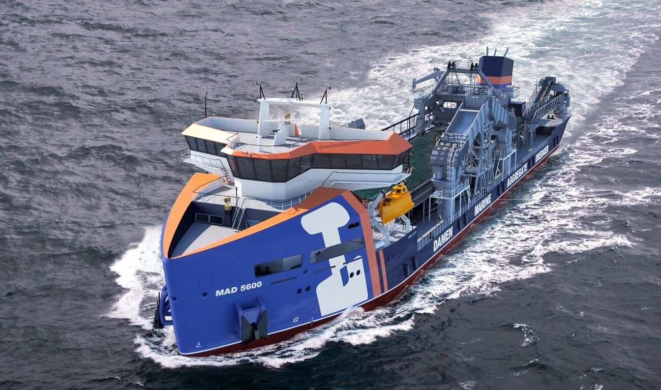 Marine Aggregate Dredger 5600 can operates in harsh weather conditions