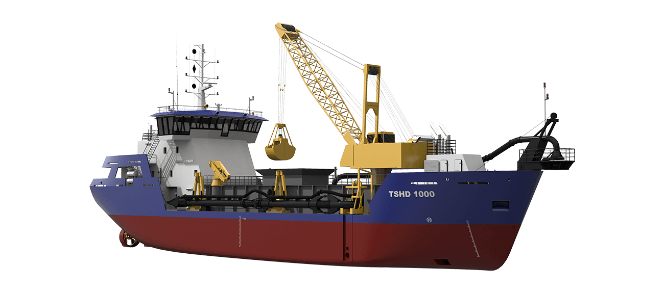 Suction Hopper Dredger 1000 perspective for SB