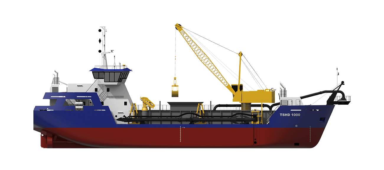 Trailing Suction Hopper Dredger sideview