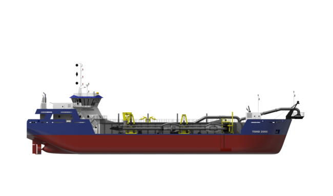 The TSHD range has been designed as a specialized maintenance dredger
