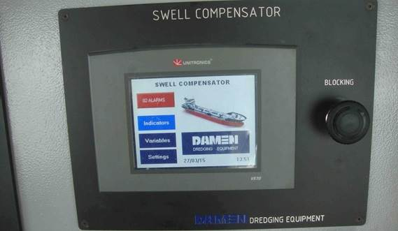 The closed swell compensator system can be controlled easily by the Damen software