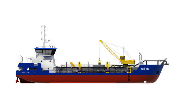 The base version of the TSHD is optimized for maintenance duties. Functionality can be added to the dredger to fit your dredging job perfectly making use of the wide array of available options