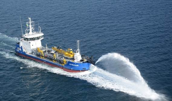 Delivered in July 2012 to its Ukrainian owners, this dredger is fitted with a double 400 mm trailing pipe