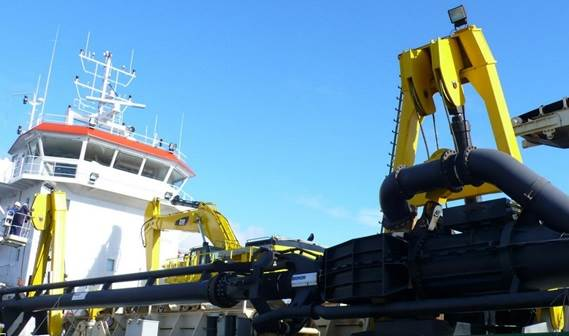 The 'Michel DSR' is designed to dredge coarse sand and gravel at the important dredging depth of 40 metres.