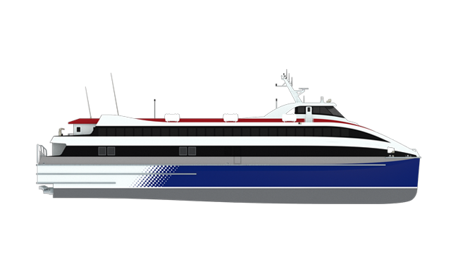 Coastal car/passenger ferry with 36 kts speed