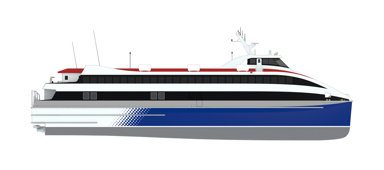 Damen Fast RoPax ferry can carry 40 cars on board