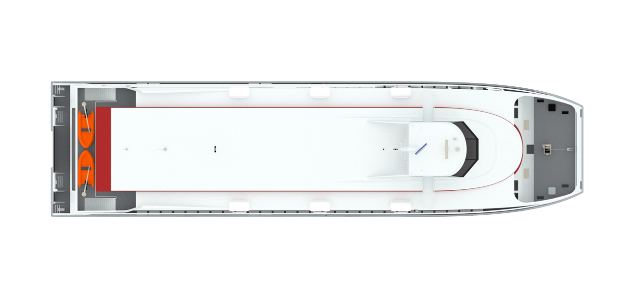 51 m length Fast RoPax Ferry for coatal waters