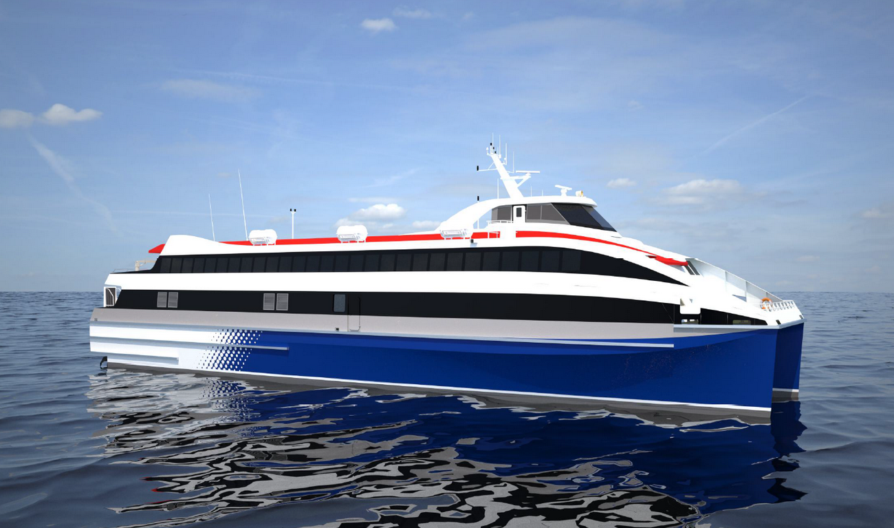 Fast car and passenger ferry for inland operations