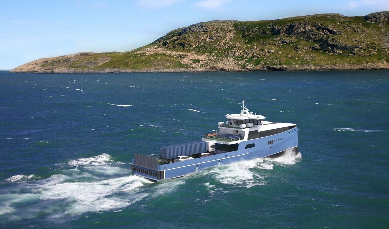 FAST CAR AND PASSENGER FERRY FOR LONG INTERNATIONAL ROUTES