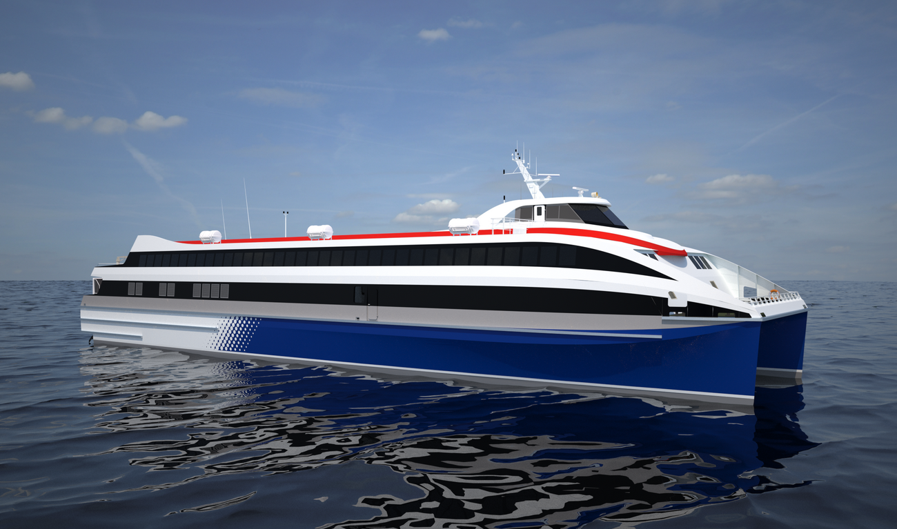 62 m length Fast Ropax Ferry for long international routes