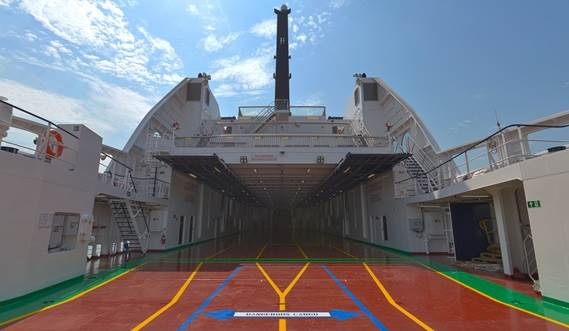 Damen RoPax Ferry car deck