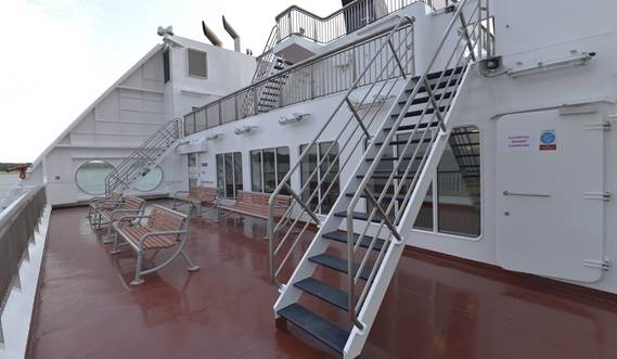 Passenger aft deck of MV Veteran