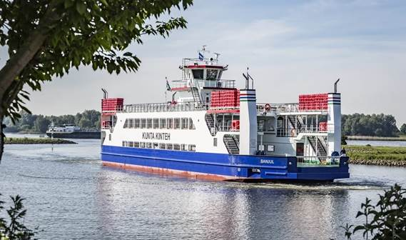 The Damen Road Ferry 5212 was built entirely in the Netherlands to a very tight deadline, with the hull constructed in just 70 days at Damen's subsidiary Niron Staal in Amsterdam.