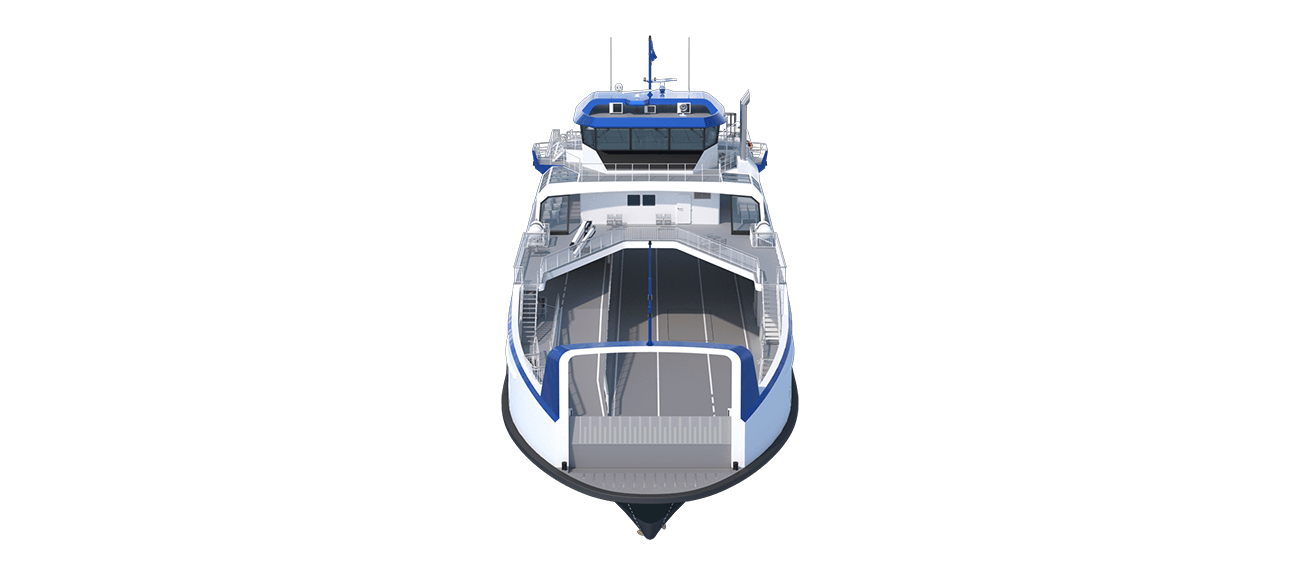Damen Road Ferry 8117 is developed to save fuel and to reduce emissions.