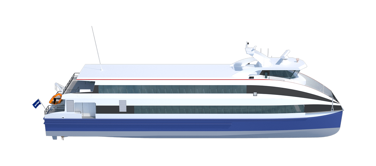 Damen Fast Ferry 4009 side view