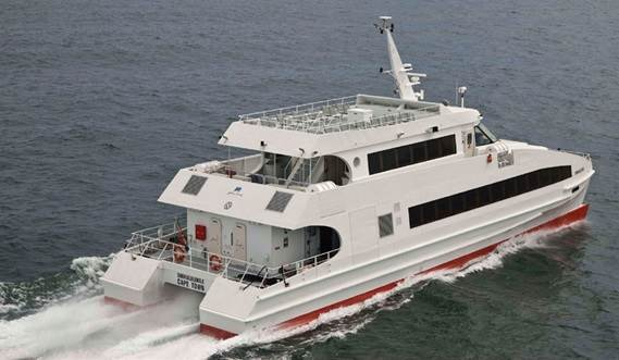 The DFFe 3209 is a mid-sized, fast passenger ferry for coastal routes.
