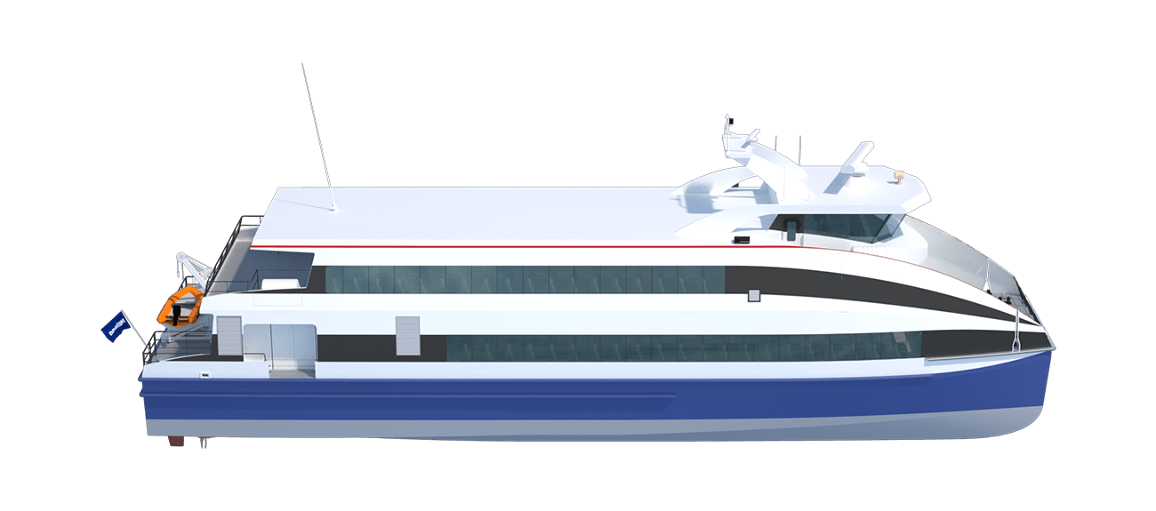 Damen Fast Ferry 3609 side view