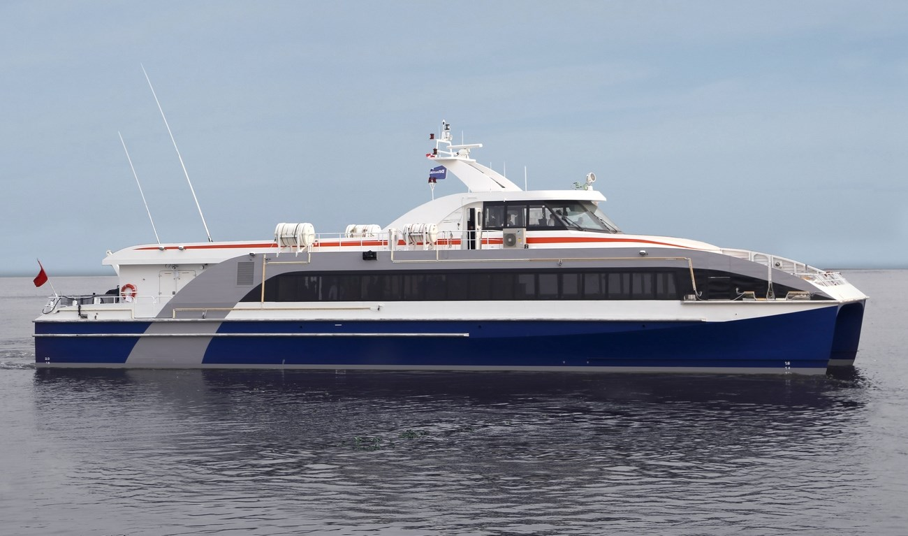 Compact design and flexible interior of Fast Ferry 3609