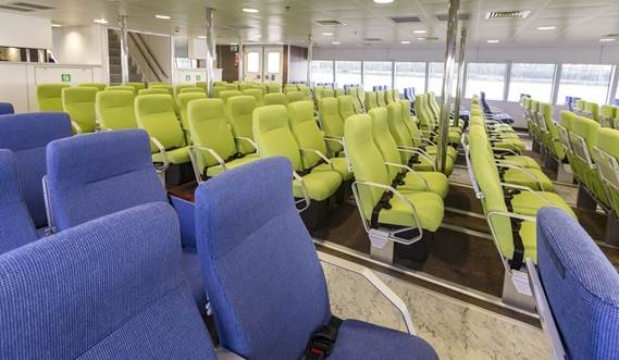 Main deck at 'Nina Jeju' Fast ferry 4010