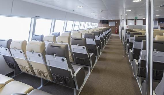 Upper deck at Fast Ferry 4010 'Nina Jeju'