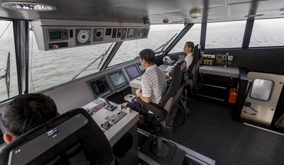 Wheelhouse at Fast Ferry 4010
